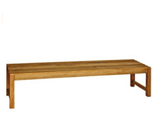 Three Birds Casual Charleston 6-Foot Backless Bench, Teak