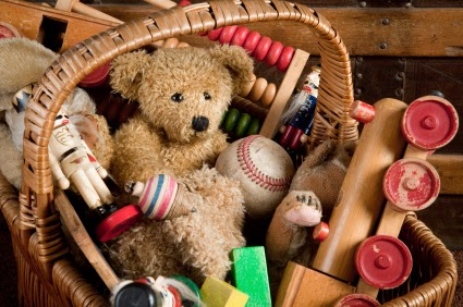 Basket of toys