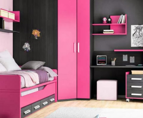 Dormitorios en negro y rosa dormitorios colores y estilos for Dormitorio rosa