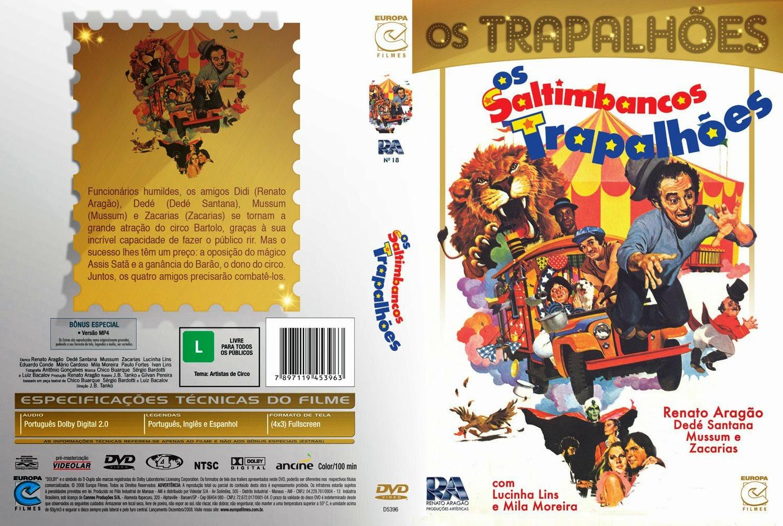Capa DVD Os Saltimbancos Trapalhões