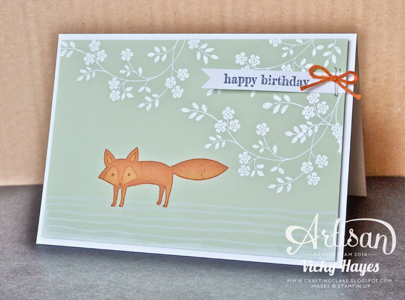 UK Stampin' Up demo Vicky Hayes shows how to use blendabilities on coloured card stock