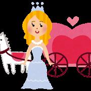 シンデレラのイラスト「シンデレラとカボチャの馬車」