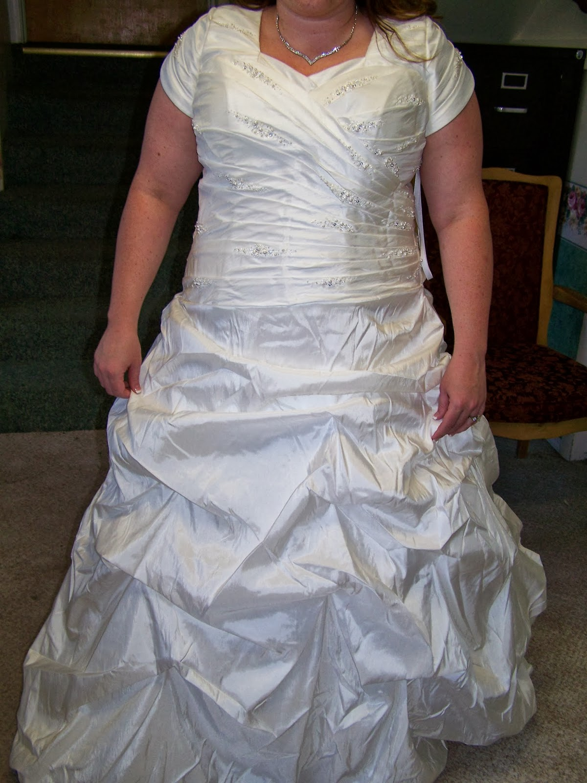 sewcreatelive: Altering a Wedding dress--Adding Shoulders and ...
