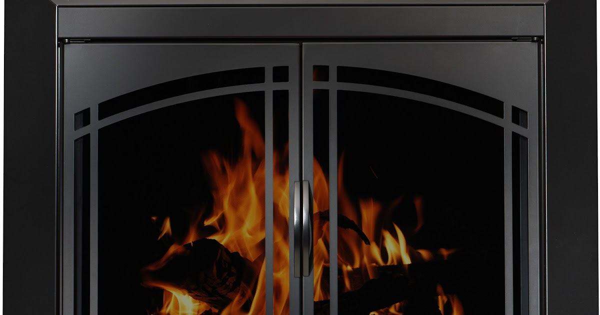 Tech x direct product blog glass doors for wood fireplaces for Residential retreat fireplace doors
