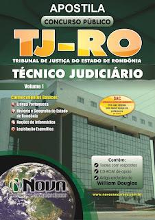 Apostila do Concurso Público TJRO2015 Técnico Judiciário.