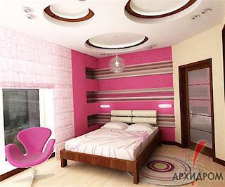 جبسيات غرف نوم رومانسية