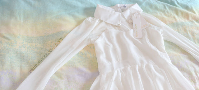 WalkTrendy sells affordably-priced, trendy clothing with free worldwide shipping, like this white sheer mesh dress.