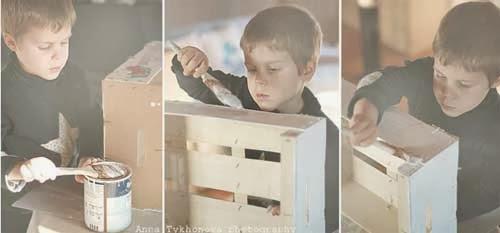 Garaje con rollos de papel higiénico en Recicla Inventa