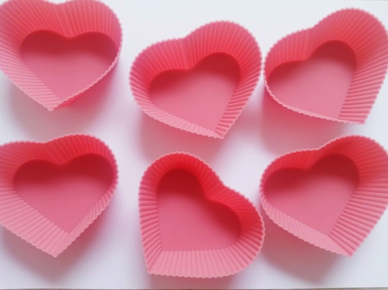 Silicon Heart Shaped Cupcake Cases