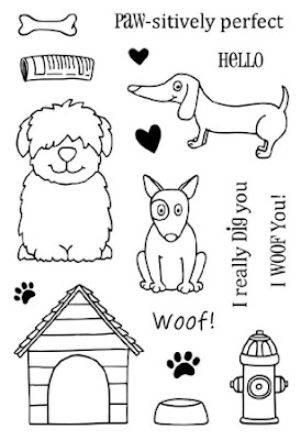 SRM Stickers Blog - I Woof You by Shannon - #card #dogs #clearstamps #janesdoodles #adogslife #XO #BIGthankyou #clearstamps