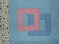 Squares Afloat quilt detail