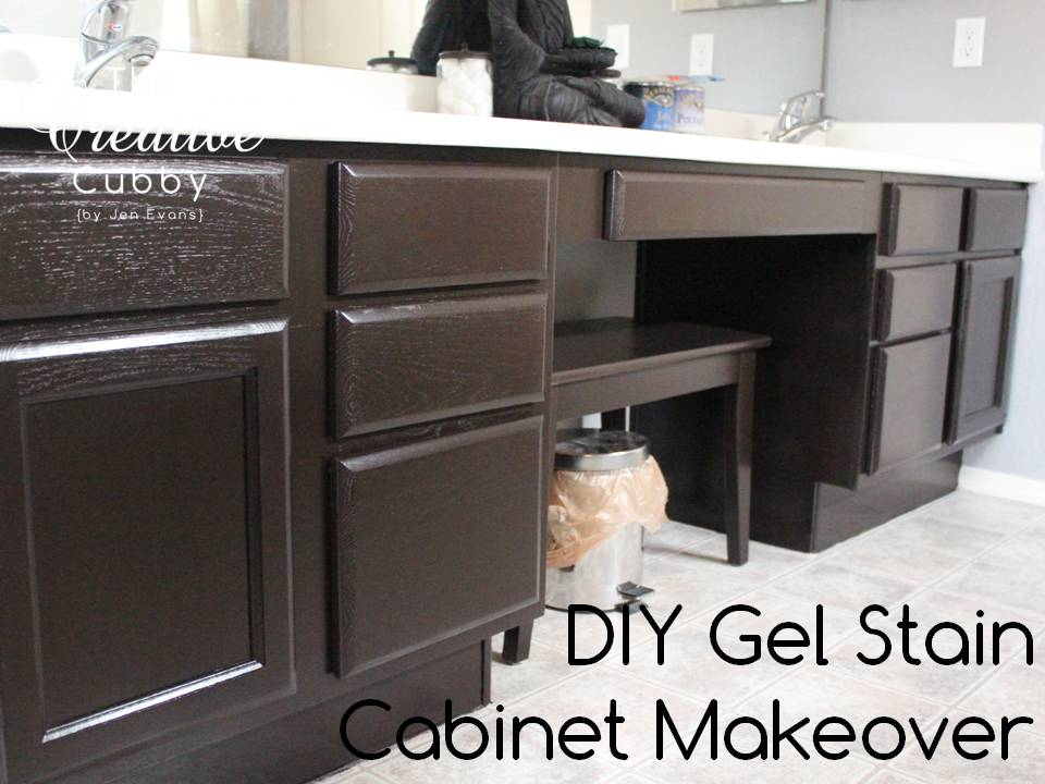 DIY Gel Stain Cabinet Makeover