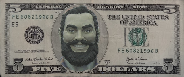 Paul Bunyan,dollar bill,bucks,Bangor,Cash Mob,bill,cash,Maine