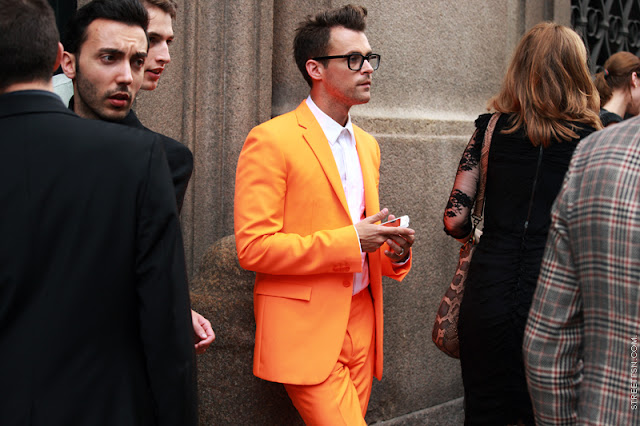 Indochino Ultimate Rustic Orange Herringbone Suit