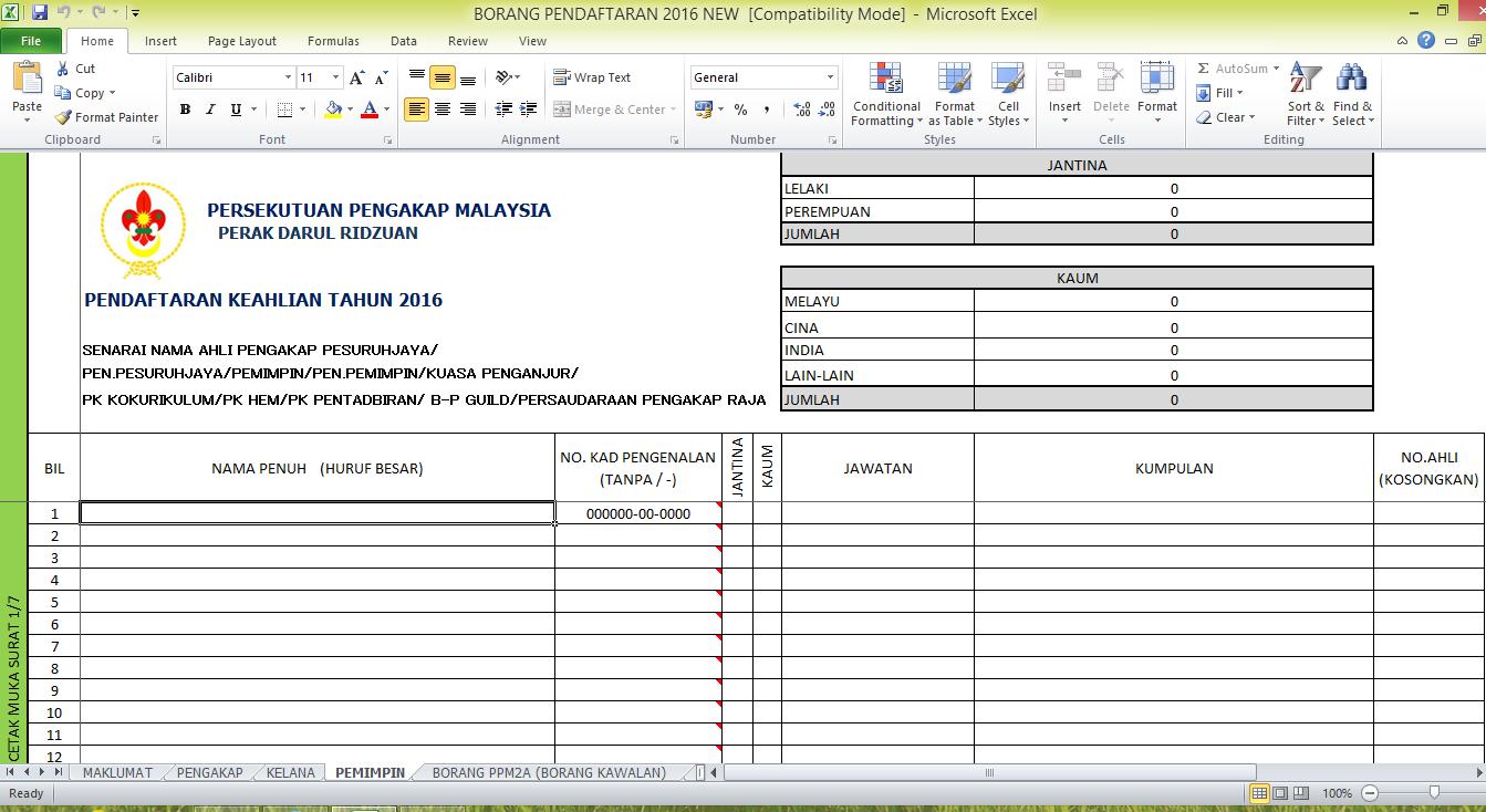 Persekutuan Pengakap Malaysia Negeri Perak Darul Ridzuan 2016