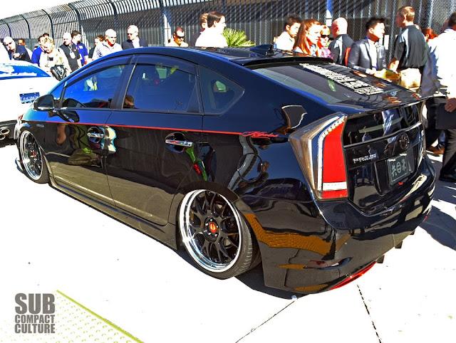 Slammed black Prius