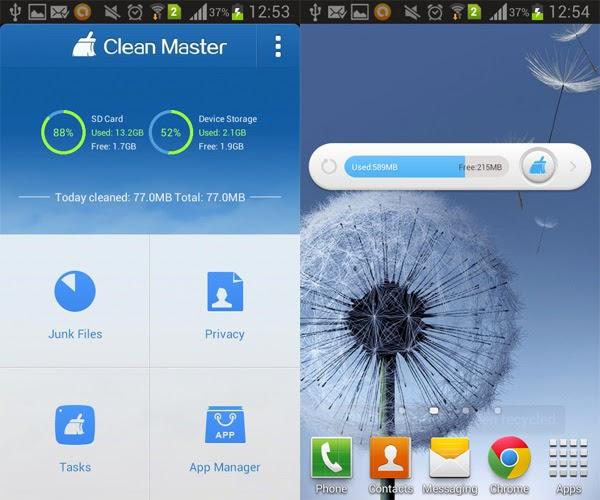 Clean Master, herramienta para limpiar tu teléfono