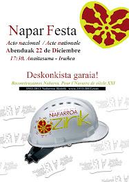 NAPAR FESTA EL 22 DE DICIEMBRE EN EL ANAITASUNA ~ ZABALDU !!!