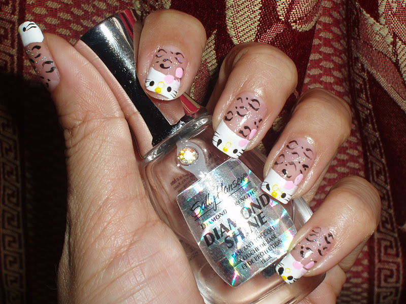 Ideas for hello kitty nail designs