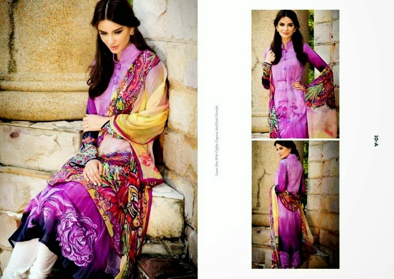 Printed Spring Lawn Chiffon Dresses