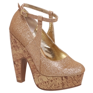 wholesale womens shoes in Platform cork heel