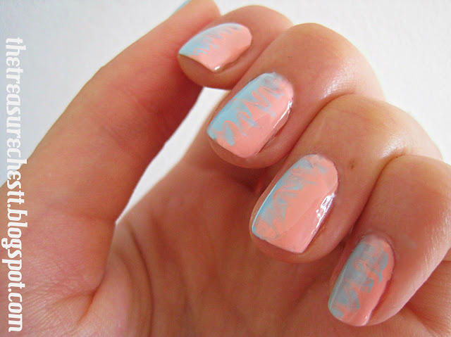 mi ny w7 pink blue swirl nails connected