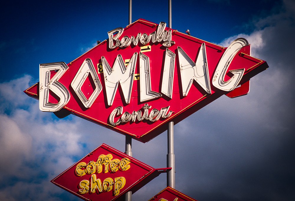 Robot Waste: Vintage Bowling Signs