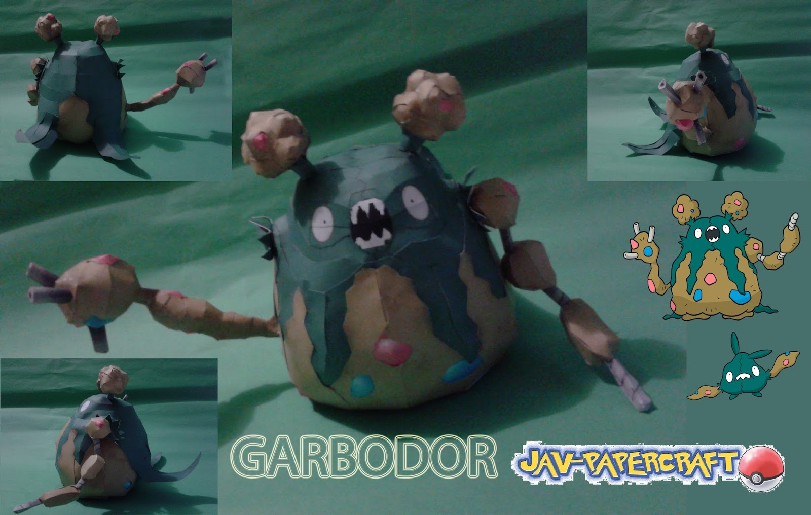 Pokemon Garbodor Papercraft