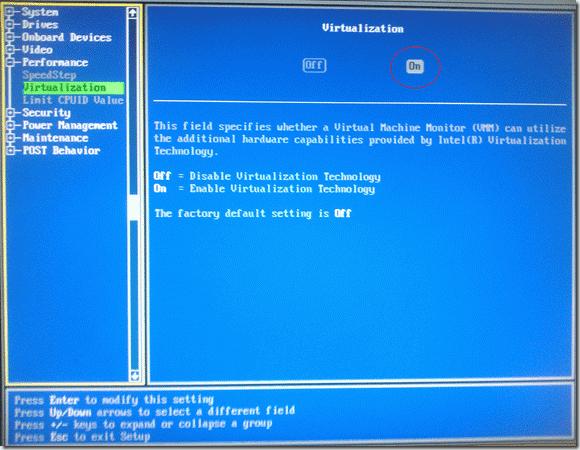 menghidupkan fitur Virtualization pada BIOS