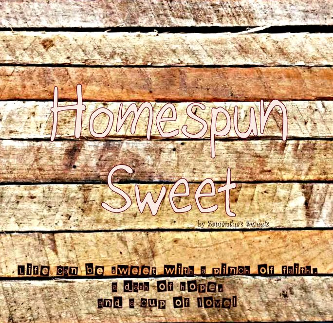 Visit Homespun Sweet ~ My new blog!