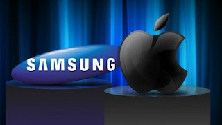 Samsung vs Apple logos