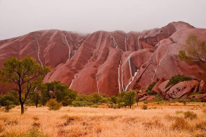 Ayers Rock Waterfall   Uluru Waterfall