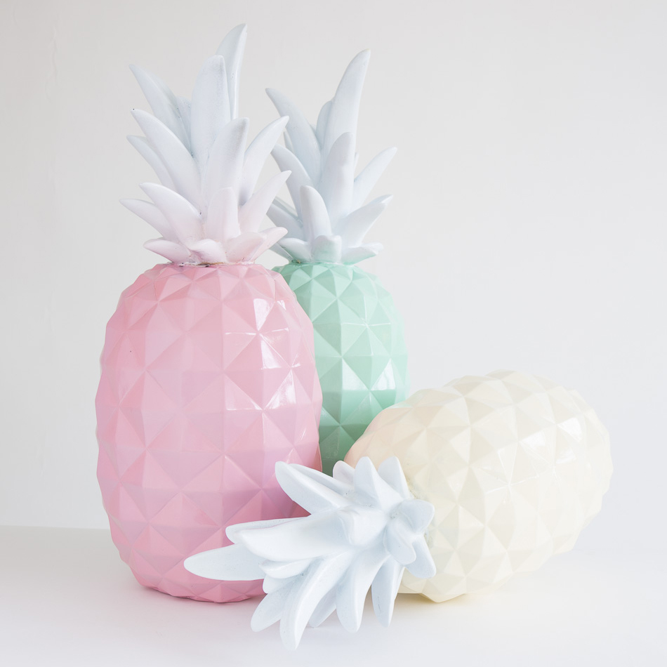 pineapple homeware, pastel homeware