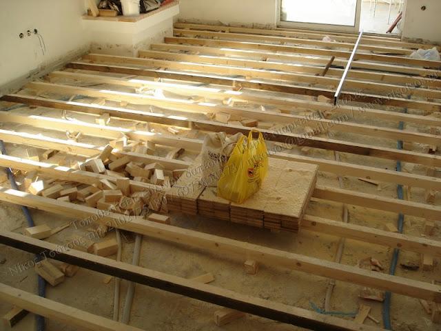 Τοποθέτηση ξύλινου πατώματος Ιρόκο