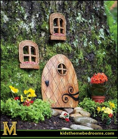 Decorating theme bedrooms maries manor fairy garden for Tree decorations for garden