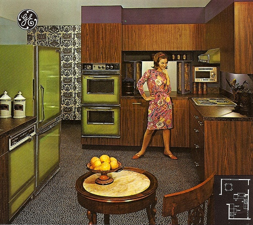 with matching avocado green appliances love this 1960 39 s ge ad
