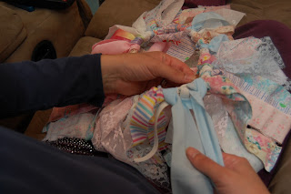 hide knot on scrap fabric tutu