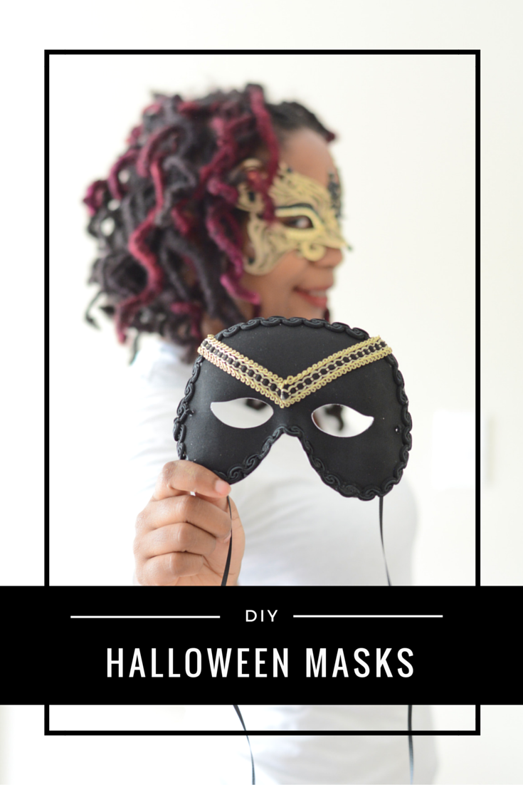diy masks for a halloween date night thriftanista in the. Black Bedroom Furniture Sets. Home Design Ideas