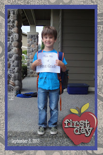 Big Bear on his first day of First Grade!