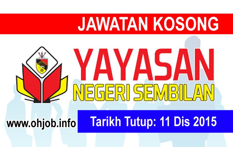 Jawatan Kerja Kosong Yayasan Negeri Sembilan (YNS) logo www.ohjob.info disember 2015