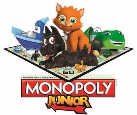 nuovo Monopoly Junior Hasbro Gioco da tavolo per bambini dai 5 anni in su 2 4 giocatori pedine tridimensionali