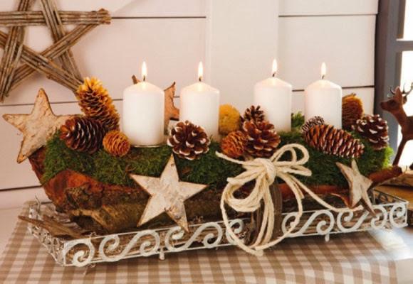 Multinotas centros de mesa navide os velas parte 1 for Centros navidenos con velas
