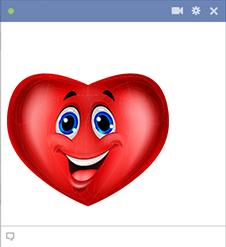 Heart smiley face for Facebook