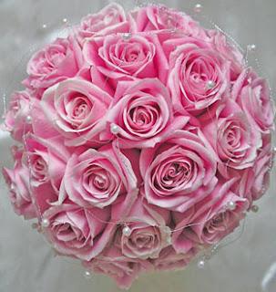pink rose bokay