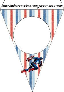 Para banderines de Capitán América.