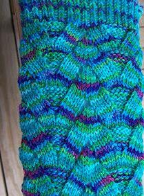 sock monkey triangle pattern