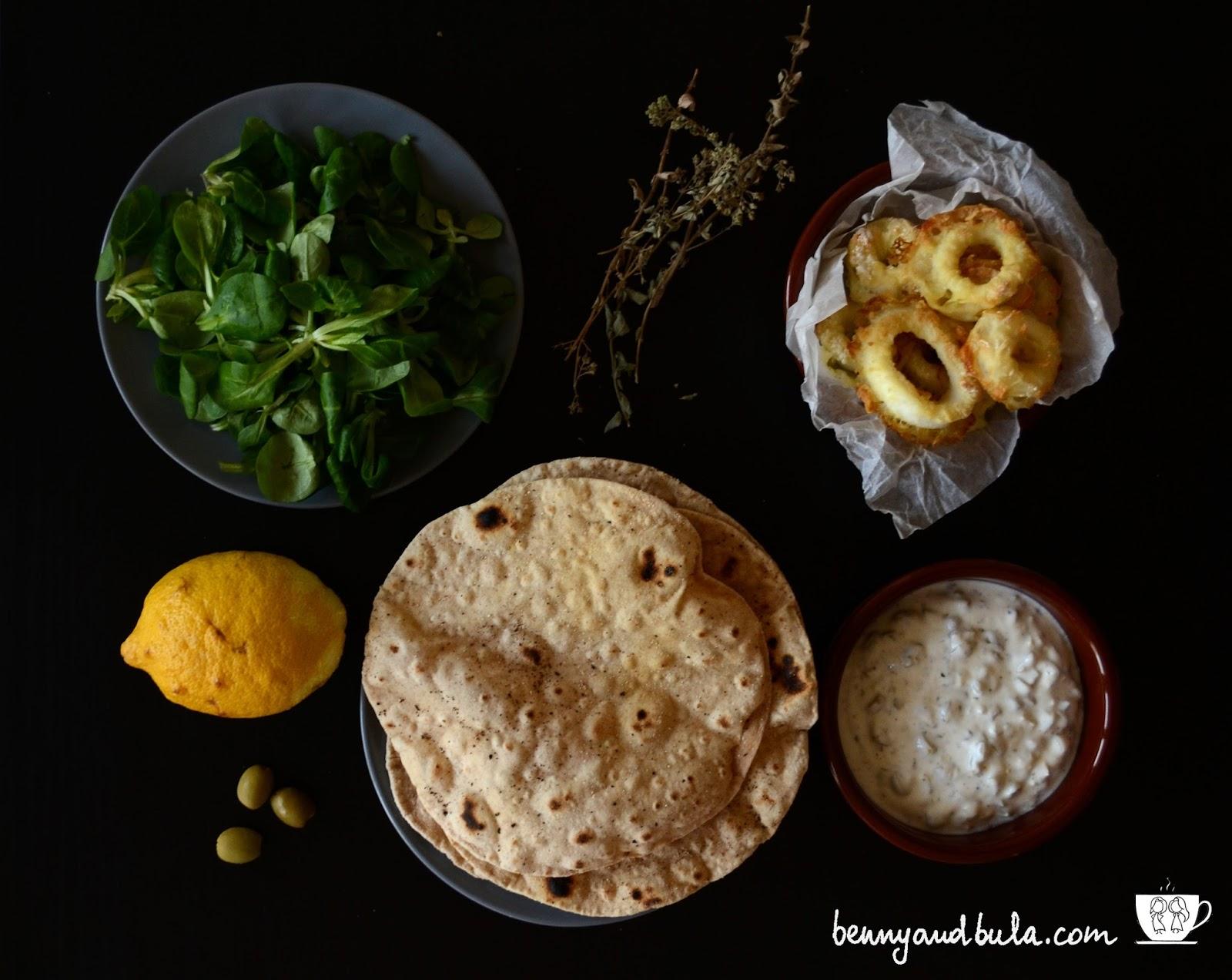 ricetta veloce light calamari con salsa allo yougurt/quick recipe squid, youghurt dressing