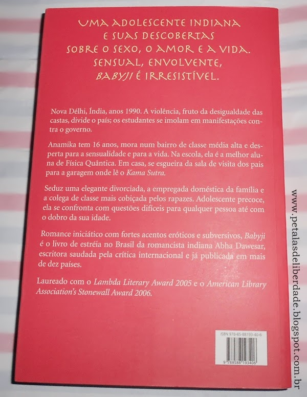 Sinopse, Contracapa do livro Babyji, Abha Dawesar, Sá Editora
