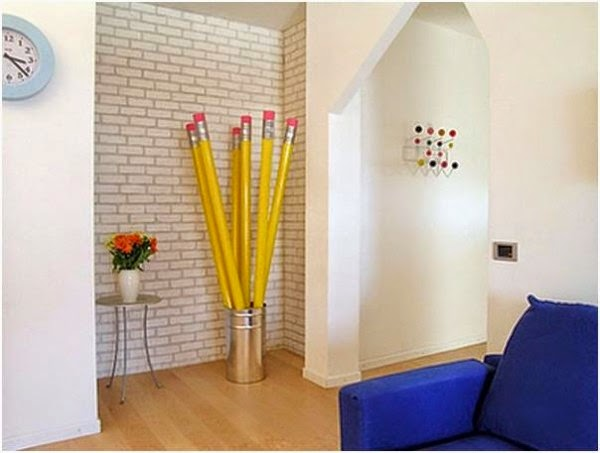 A Creative Hanger Made To Look Like Real Pencils Perfectly Fits To The Beautiful And Modern Interior Link
