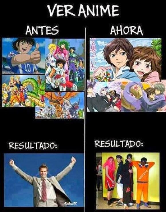 Animes: Antes vs Ahora